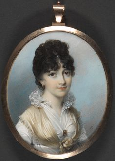 George Engleheart, 1753–1829, British, Portrait of a Lady, 1801, Watercolor and gouache on ivory, Yale Center for British Art, Paul Mellon Collection  recto