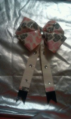 Duct taped hair bow.