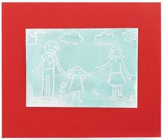 Using block printing to display your kids artwork. So brilliant