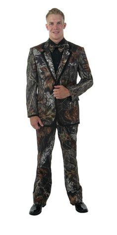 New Mossy Oak Camo Bright Colored Tuxedo Camouflage Tux Complete Prom Shirt Too