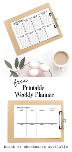 Get organised with this free printable weekly planner. Two versions to choose from. The bullet-pointed to-do list or the minimal blank slate. Simple black and white printable planners that are ink friendly and ready to help you get things done. To Do Lists Printable, Printable Calendar Template, Printable Planner, Free Printables, Free Printable Weekly Calendar, Weekly Planner Template, Free Planner, Planner Ideas, Kids Calendar