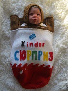 """Купить """"Киндер сюрприз"""" - кокон, кокон для новорожденного, конверт на выписку, киндер сюрприз"""