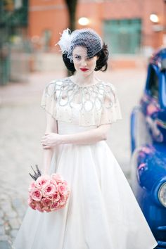 1950s Vintage Bridal Dress | photography by http://www.iyqphotography.com