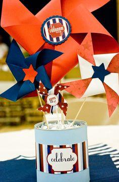 Patriotic Pinwheels - Free Printable