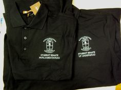 Embroidered polos with individualized job titles