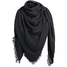 Alleza Echarpe Foulard Châle à Carré Coton Femme pour Automne Hiver   echarpes  echarpescachemire   badb7dc5815