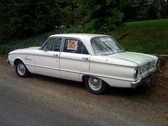 1961 Ford Falcon. Supposed to be my first car. Dad took it.