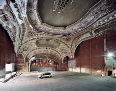 Same Guardian article, Photos by Marchand and Meffre. Michigan Theatre, Detroit. Love that minivan #punctum truly is the Motor City.