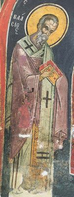 Vlasios (Blaise) the Hieromartyr of Sebaste - Commemorated on February 11 ( source ) The Hieromartyr Blaise (Blasius), Bishop of . Saint Blaise, His Hands, Beast, Saints, Prayers, Blessed, Painting, Animals, Cave