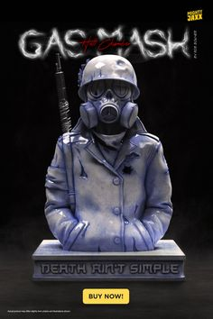 """High gloss painted porcelain with artfully placed openings for smoke to rise out. Gas Mask (Hell Chamber) by @massiveface is available for order now 🔥 10"""" Porcelain Incense Chamber // $249 with free shipping // Limited edition"""