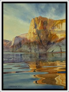 """Iceberg Canyon #13"" - Lake Powell Watercolor by David Drummond - Original Watercolor Paintings - Albuquerque, New Mexico"