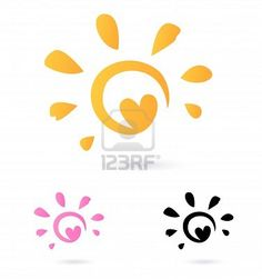 sun and heart, cut for tatto!