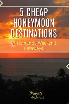 Whether you are married and looking for an inexpensive romantic getaway, or you are a soon-to-be newlywed, check out our top picks for cheap honeymoon destinations here in the US. We chose these destinations because they are perfect for couples with a variety of interests and they are affordable options, especially for people living in different regions who are looking to travel closer to home. Romantic Weekend Getaways, Romantic Getaway, Cheap Honeymoon Destinations, Road Trip Planner, Road Trip Games, Pretzels, Travel Couple, Travel Advice, Peanuts