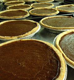"""Real pumpkin pies made from Real pumpkins Carefully well balanced spices And cream Flaky buttery crust These will be the highlight of your Thanksgiving They are 8"""". Round serves 8 to 6 people.  To order visit Andersen's at 1106 State Street or call (805) 962-5085"""