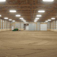 Indoor Arena Interior Built With 5 High Sloped