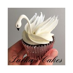 Swan cupcakes #sarkascakes #swancupcakes #swan #cupcakes