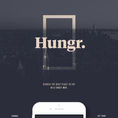 Hungr. iOS App on App Design Served