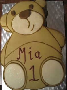 Teddy Bear cake  #teddy #bear #cake #icing #brown #birthday #celebration