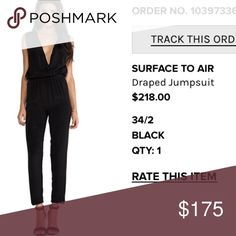 Black jumpsuit Silk black jumpsuit purchased from revolve clothing... Paid full retail price. Never wore Revolve Pants Jumpsuits & Rompers