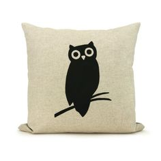 Owl pillow  Decorative pillow  Throw pillow by ClassicByNature, $34.00