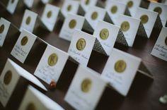 wax seal escort cards