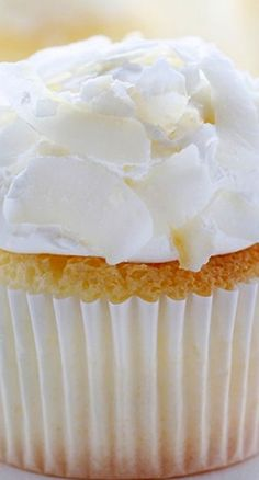 Coconut Angel Food Cupcakes