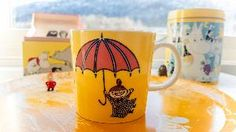 Todays Moomin mug.  Little My - yellow.  Has been discontinued and has become a sought-after collectible.