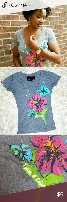 Floral Graphic Tee Floral Graphic Tee Tops Tees - Short Sleeve