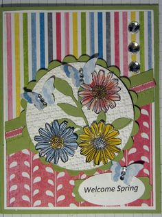 Crafty Maria's Stamping World: Welcome Spring - The Sweet Stop Sketch Challenge #202
