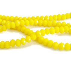Check out 145 2x3mm Chinese crystal glass beads for jewelry making, small faceted beads, loose beads, yellow faceted beads, rondelle beads, r13 on vickysjewelrysupply