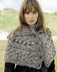 knit poncho diy
