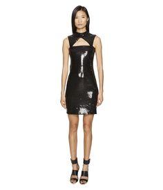 JEREMY SCOTT Little Sequin Black Dress. #jeremyscott #cloth #