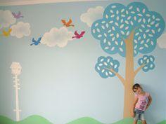 JANA NEVES GARCIA: Pintura das paredes da escola Ciranda da Criança