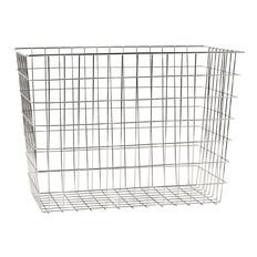 Living & Co Wire Basket Tapered Rectangle Chrome