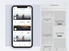 Travel Booking App designed by Alaa Rahib. App Ui, Ui Ux, Ios App Design, Ui Inspiration, Hello Summer, User Interface, Tourism, Mobile Ui, Travel