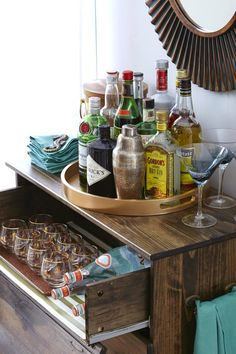 My Fabuless Life: IKEA HACK: TARVA DRESSER TO BAR CART & A MAKEOVER LINK PARTY