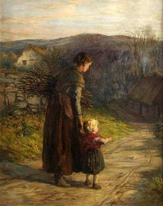 Homewards With Mother, Hugh Cameron (1835 – 1918, Scottish) I AM A CHILD-children in art history-blog