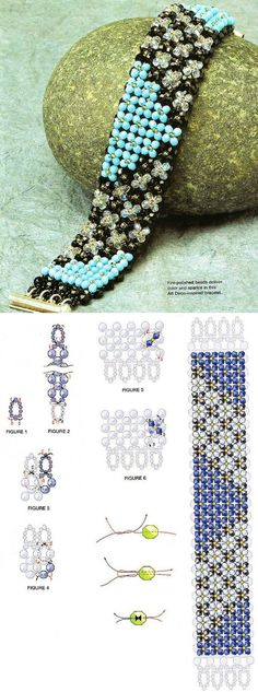 Try in czech sd bds or fire pol Bracelet free beads tutorial. Seed Bead Patterns, Beaded Bracelet Patterns, Jewelry Patterns, Beading Patterns, Beaded Bracelets, Seed Bead Jewelry, Beaded Jewelry, Handmade Jewelry, Jewellery