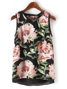 Sleeveless Top - Floral Tropical 02 by VIDA VIDA Discounts Sale Online Countdown Package Sale Online Free Shipping Best Wholesale Best Prices For Sale YhQWxXNz