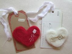 {Make It} Felted Heart Tags... — Roben-Marie Smith