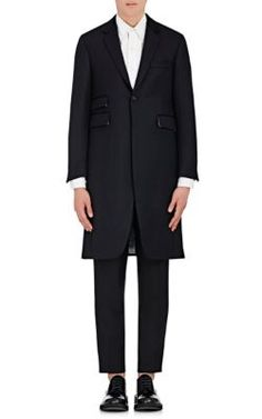 THOM BROWNE Cavalry Twill Single-Button Topcoat. #thombrowne #cloth #topcoat