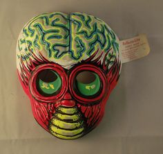 Vintage 1970's  Metaluna Mutant Vacuform Plastic Halloween Mask