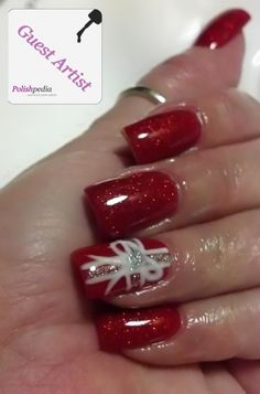 Christmas Present Nail Design
