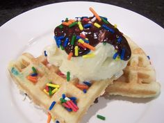 Cake mix made in your waffle iron! YUM!