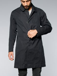 Nudie Jeans Sander Coat Black Washed Black