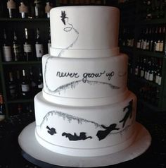 Love this more adult version of a Disney cake
