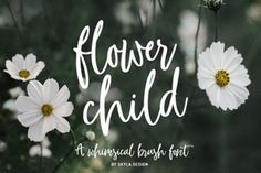 Whimsical brush font, Flower Child By SkylaDesign