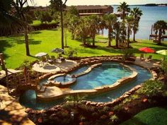 Pool, hot tub, and a lazy river