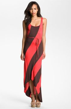 FELICITY & COCO Stripe Jersey Maxi Dress available at #Nordstrom