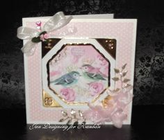 Loves to craft: Kanban Chelsea paper craft collection - foiled & die cut toppers with co-ordinating card.